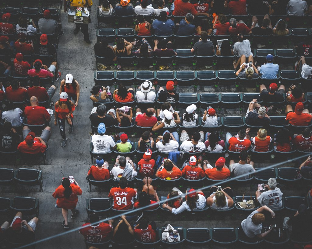 Photo of American football fans.