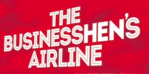 Image, slogan for Norwegian Airlines: 'The Businesshen's Airline'