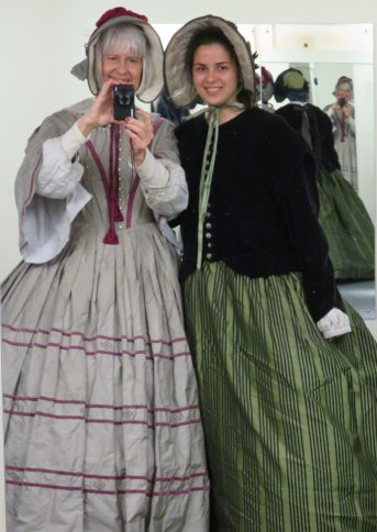 Mother/daughter dress up at the Jane Austen Museum in Bath, UK