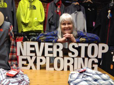 Never Stop Exploring sign