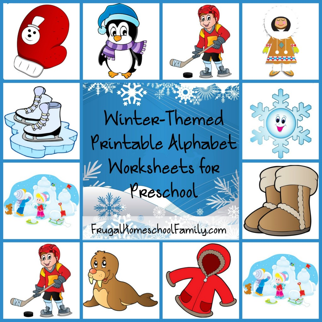 Free Winter Themed Printable Alphabet Worksheets For Preschool