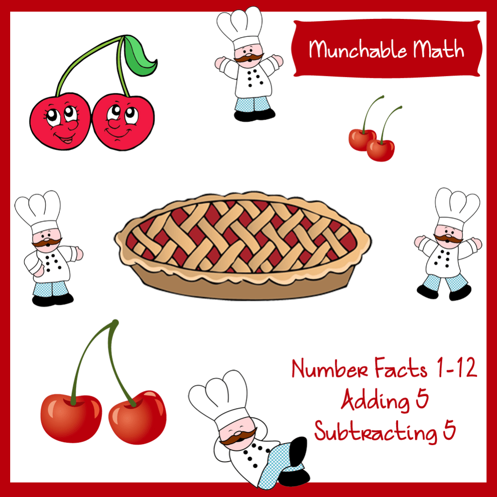 Free Elementary Munchable Math Worksheets Cherries