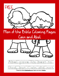 Free Men Of The Bible Coloring Page Cain And Abel Writebonnierose Com
