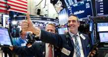 stock market record bitcoin adp