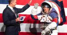 US nasa spacex astronauts orbit
