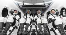 spacex station space capsule astronauts