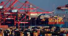trade deficit record february goods
