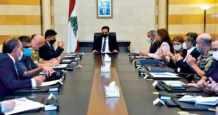 lebanon president macron government support