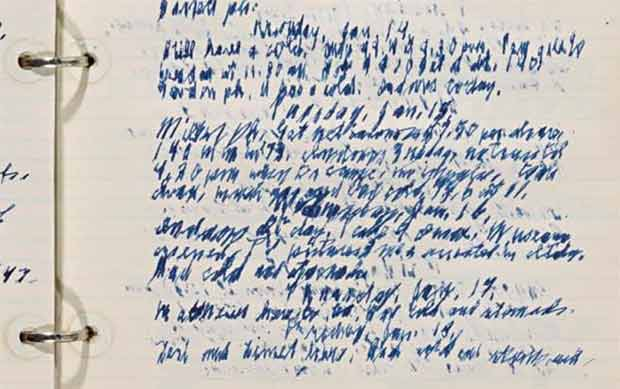 J. Paul Getty's handwriting
