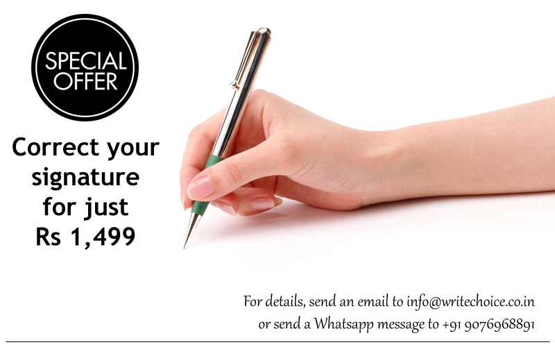 Correct your signature for just Rs 1,499 (or $50)