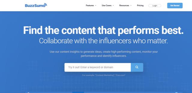 content writing tools - BuzzSumo