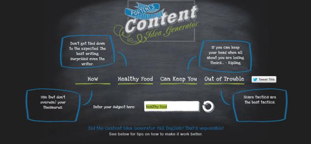free content writing tools - Portent Content Idea Generator
