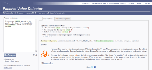 content writing tools - Datayze