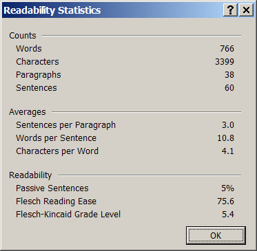 readable-writing-readability-statistics