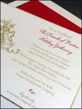 Traditional Christmas Party Invitation