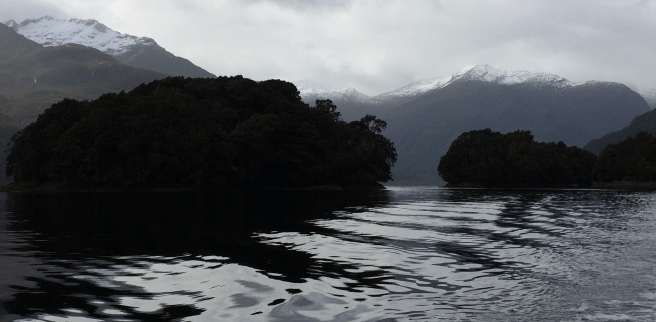 Cruising in Fiordland, New Zealand