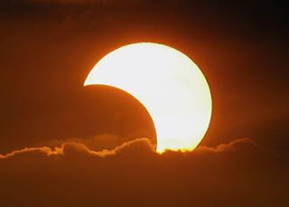 Photo of eclipse of the sun