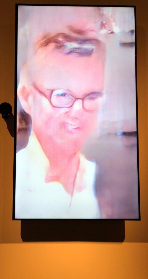 Rachel as seen in Uncanny Mirror by Mario Klingemann commissioned by Seoul Mediacity Biennale 2018