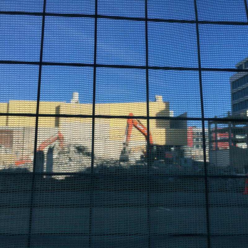 Steel mesh, building, diggers