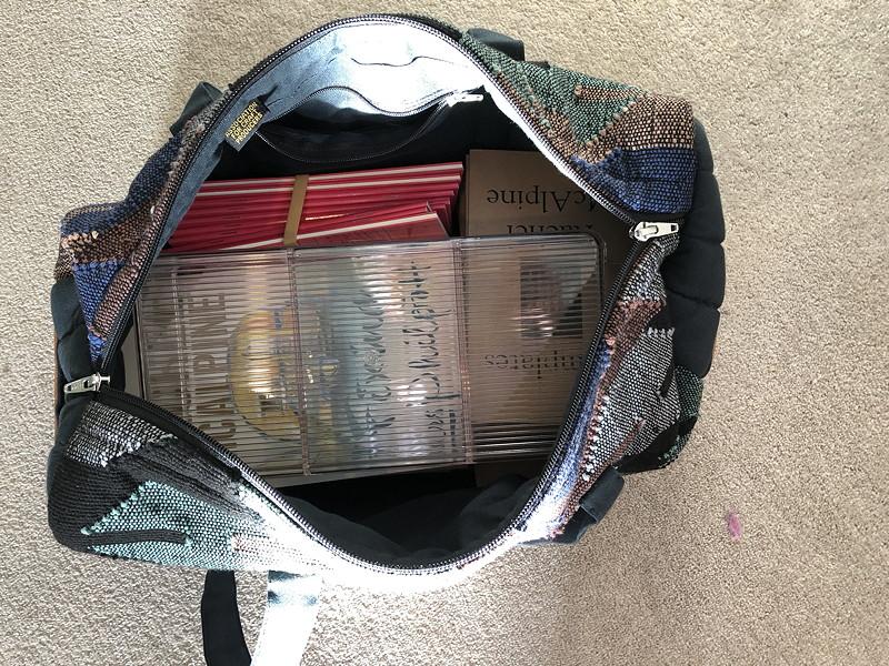 Photo of books in a soft bag