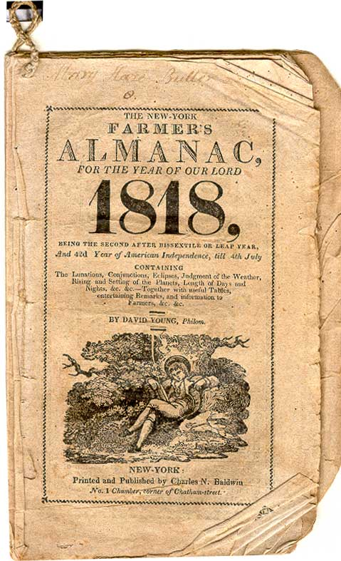 cover of THE NEW YORK FARMER'S ALMANAC FOR THE YEAR OF OUR LORD 1818