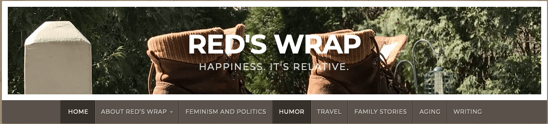 Logo for Red's Wrap blog by Jan Wilberg