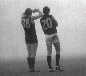 The 'fog match' between Fitzroy and Carlton, 1971