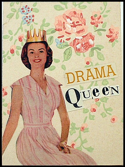 Miss Drama Queen original art ACEO by catlover1, $5.50