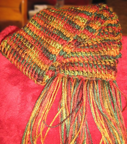 fall into autumn scarf by ME!, $12