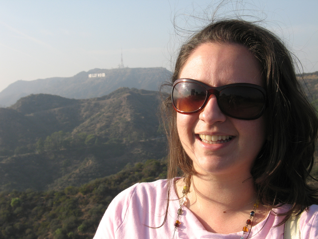 Me with the Hollywood sign