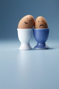 Happy, sad, eggs, differences