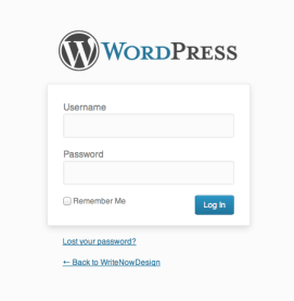 default-wordpress-login
