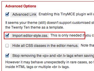 TinyMCE Advanced Plugin