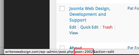 WordPress Find Post ID