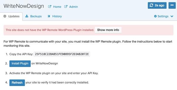 WP Remote Site Dashboard