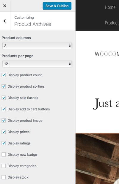 WooCommerce Product Archive Customiser