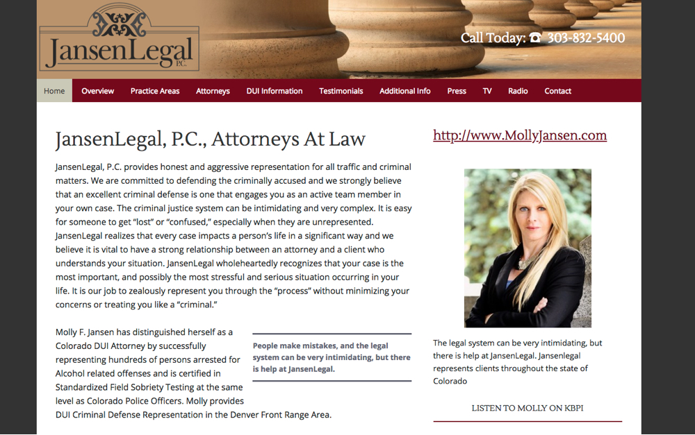 Jansen Legal Website