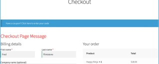 WooCommerce Add Message to top of the checkout page.