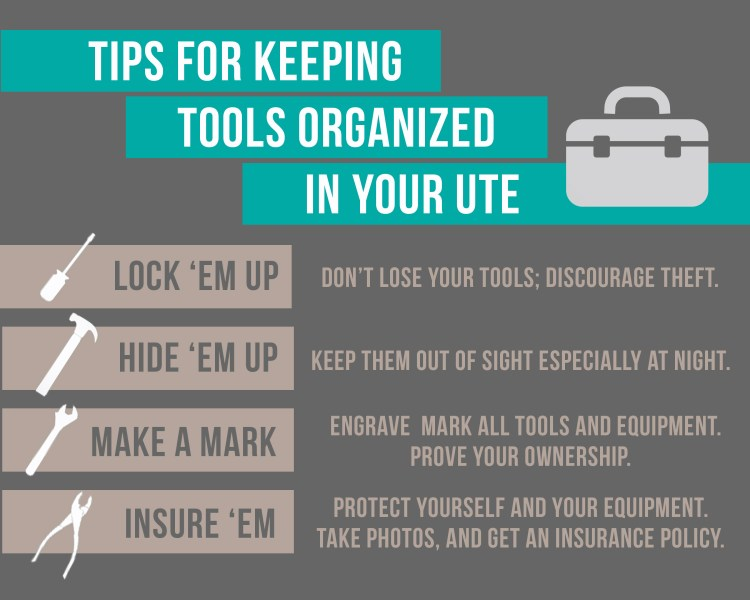 How to keep your UTE tools organized