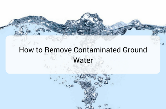 How to remove contaminated ground water