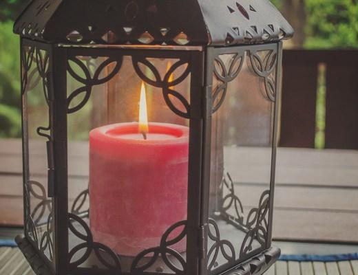 lantern, candle, flame