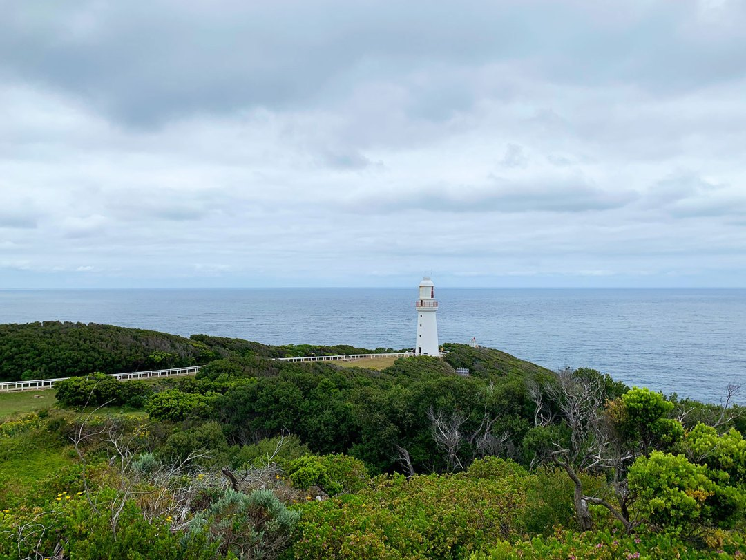 Cape Otway Light Station from a distance - Victoria, Australia.