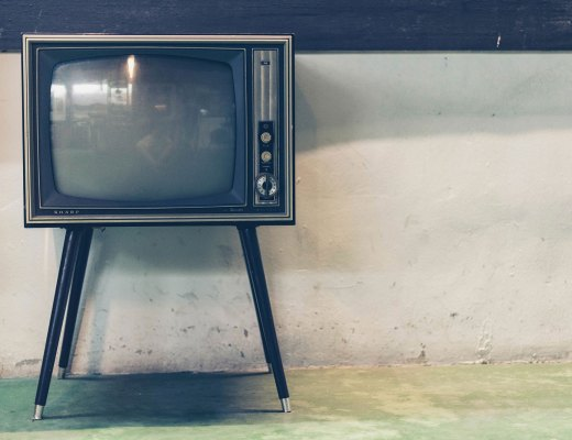 A 1970's television on legs