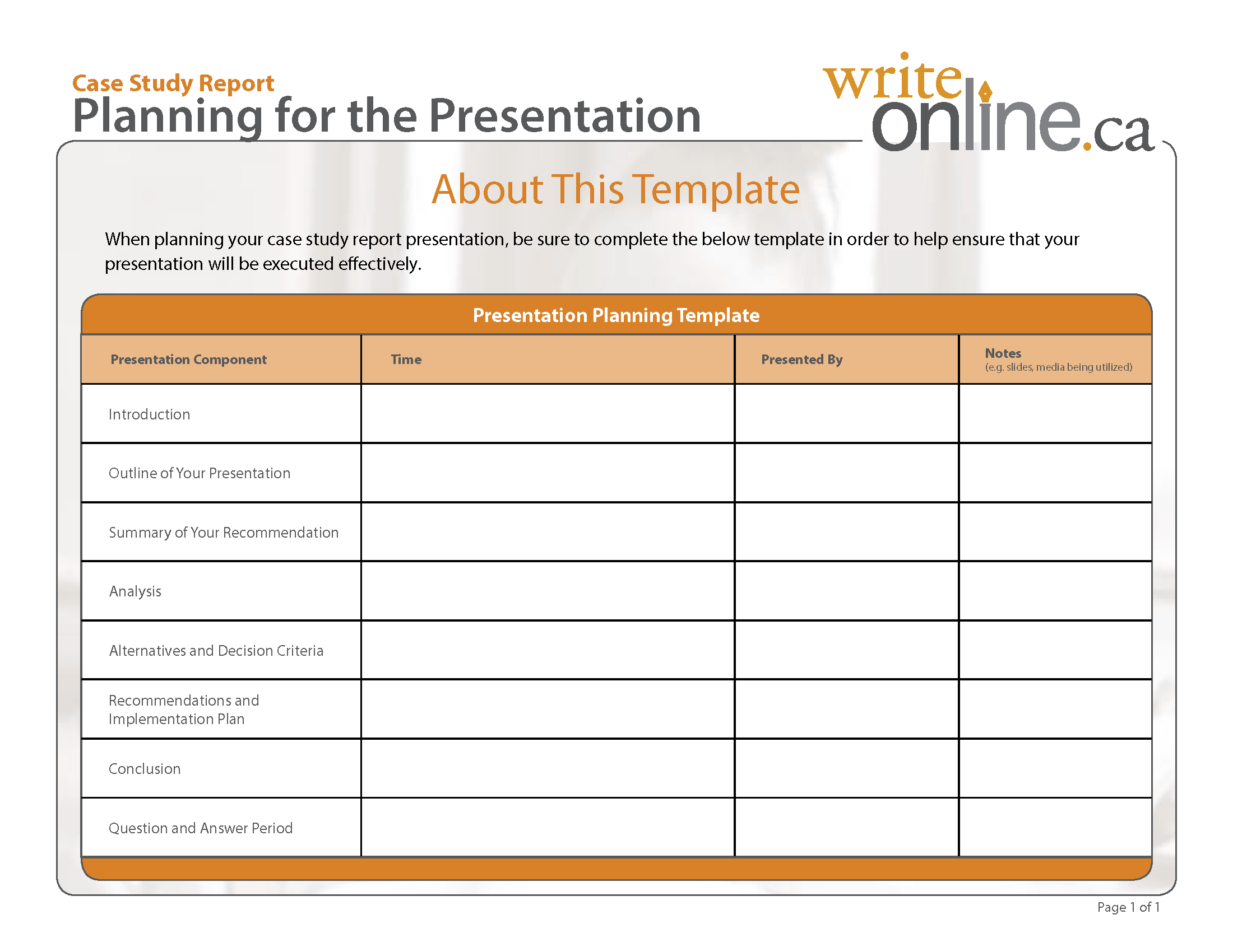 Write Online Case Study Report Writing Guide