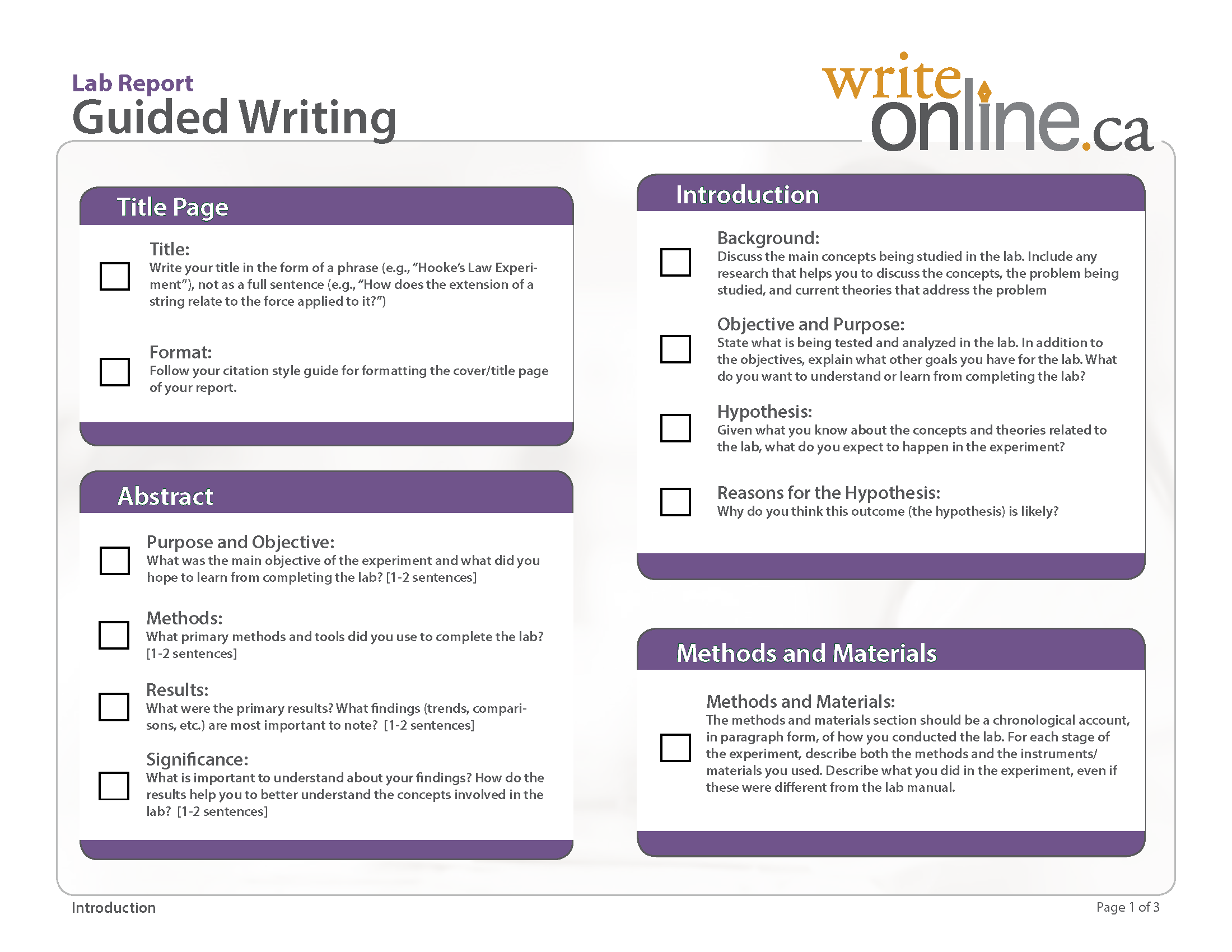 Write Online Guided Writing Tool