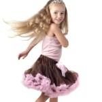 Little girl dancing in studio