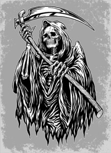Hand Inked Grim Reaper Illustration