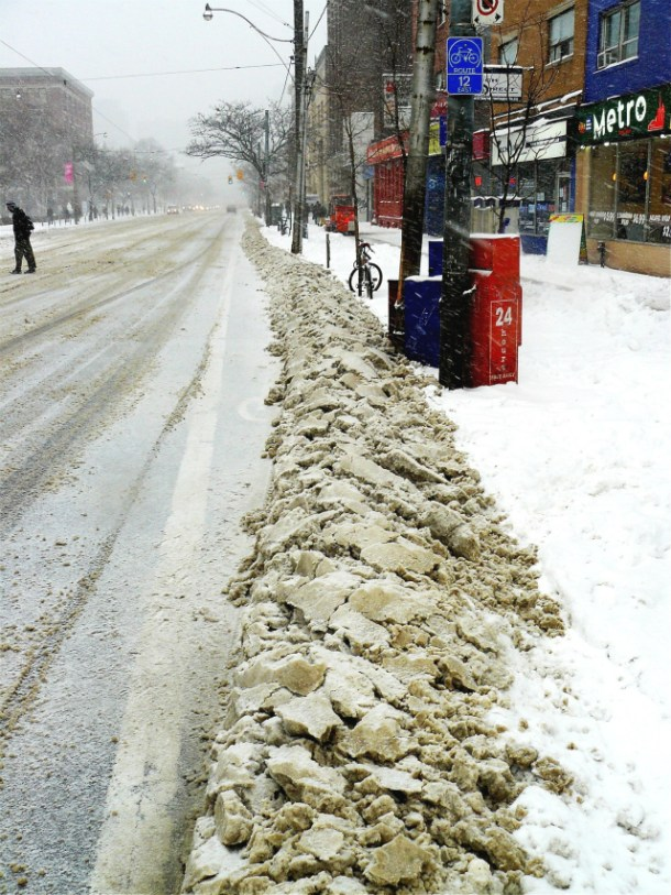 What the other bike lanes in Toronto look like.