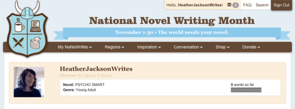 HeatherJacksonWrites NaNo Profile