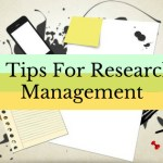 3 Tips for Research Management